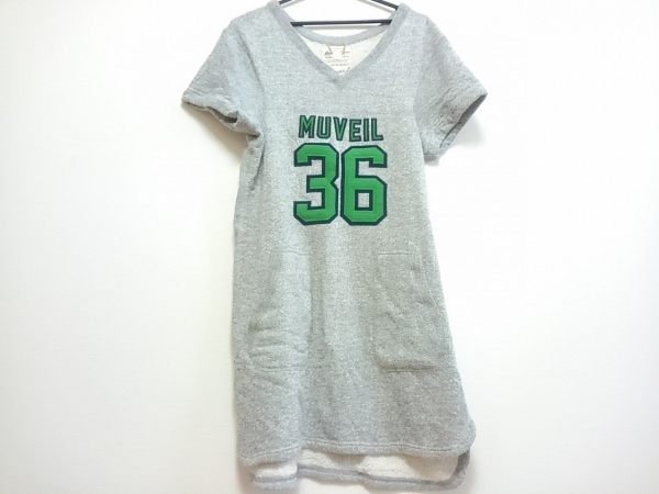 MUVEIL(ミュベール) ワンピース レディース ライトグレー Muguet Fifth Avenu