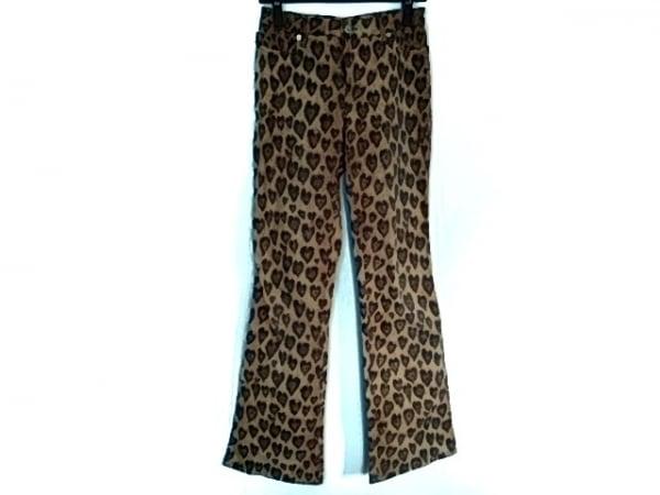 モスキーノ パンツ サイズ27 M レディース美品  ライトブラウン×ブラウン×マルチ