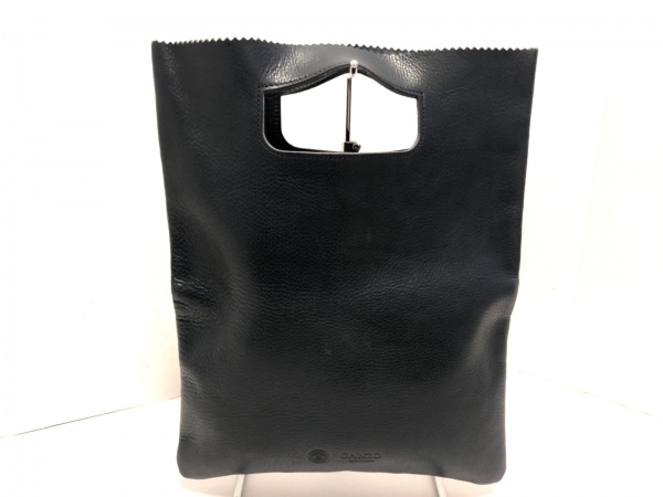 GANZO(ガンゾ) ハンドバッグ美品  ネイビー レザー