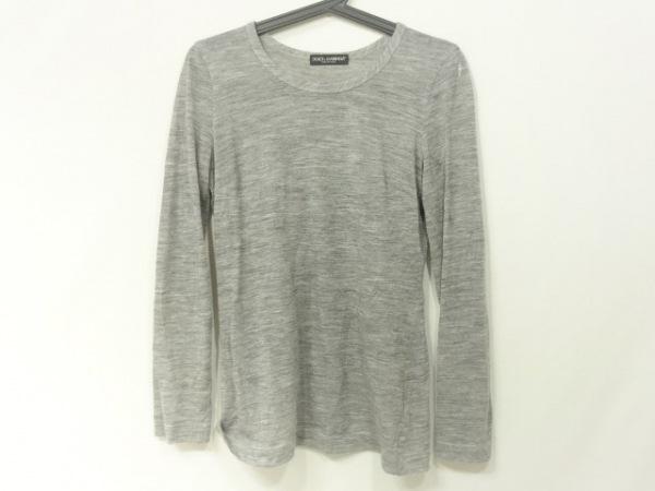 ドルチェアンドガッバーナ 長袖Tシャツ サイズ40 M レディース美品  グレー