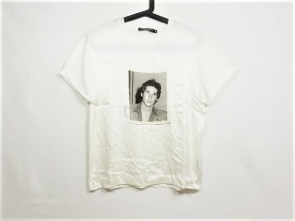 ドルチェアンドガッバーナ 半袖Tシャツ サイズ42 M レディース 白×グレー×黒 シルク