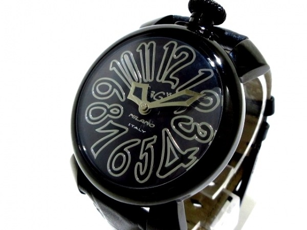 GAGA MILANO(ガガミラノ) 腕時計美品  マヌアーレ40 5022 メンズ 黒