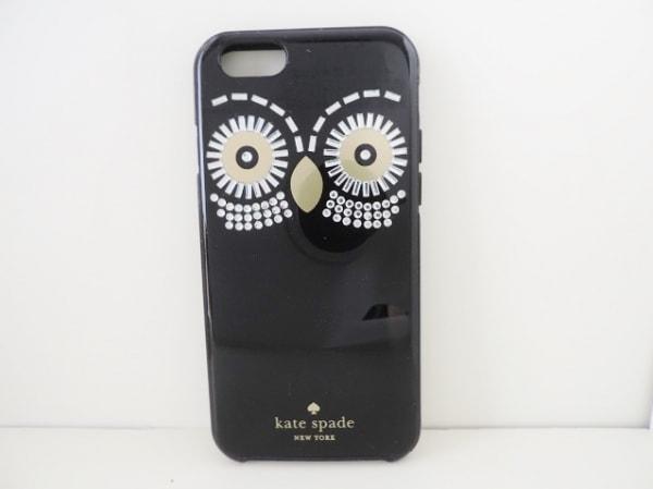 Kate spade(ケイトスペード) 携帯電話ケース 8ARU1501 黒×シルバー×ゴールド