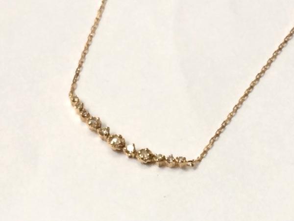 agete(アガット) ネックレス美品  K18YG×ダイヤモンド 0.08カラット