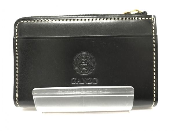 GANZO(ガンゾ) コインケース 黒 L字ファスナー レザー