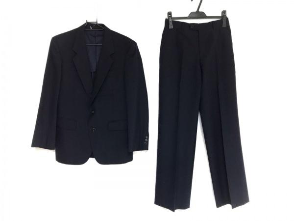 LANVIN(ランバン) シングルスーツ メンズ ネイビー ネーム刺繍/肩パッド
