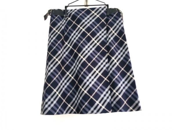バーバリーロンドン 巻きスカート サイズ40 L レディース チェック柄