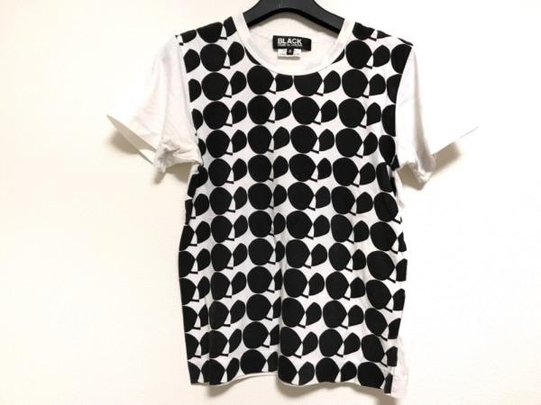 ブラックコムデギャルソン 半袖Tシャツ サイズS レディース 白×黒