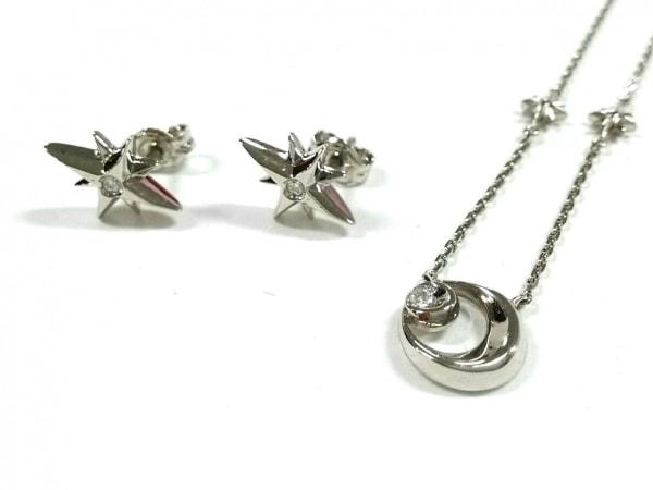 STAR JEWELRY(スタージュエリー) ネックレス美品  シルバー×ダイヤモンド