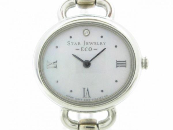 STAR JEWELRY(スタージュエリー) 腕時計美品  ECO B023-S061962 レディース シルバー