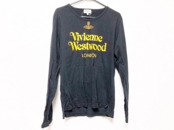 ヴィヴィアンウエストウッドマン 長袖Tシャツ サイズ50 メンズ 黒×イエロー