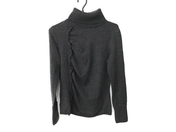 ランバン 長袖セーター サイズ38 M レディース美品  ダークグレー タートルネック