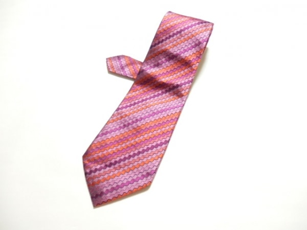 PaulSmith(ポールスミス) ネクタイ メンズ美品  ピンク×オレンジ×パープル