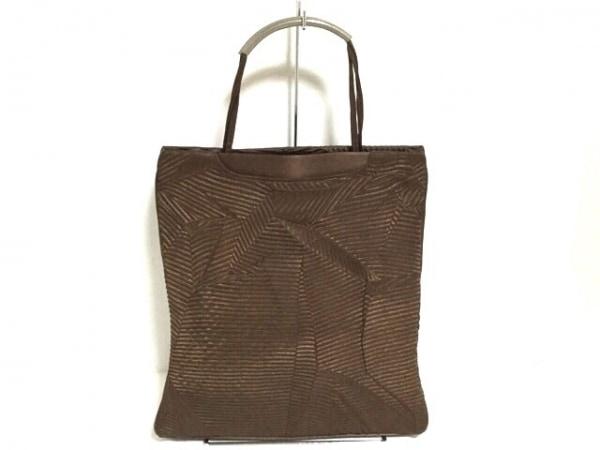 バレンシアガライセンス ハンドバッグ ダークブラウン 化学繊維×レザー