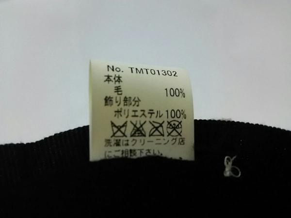 CA4LA(カシラ) 帽子美品  黒 ベレー帽 ウール