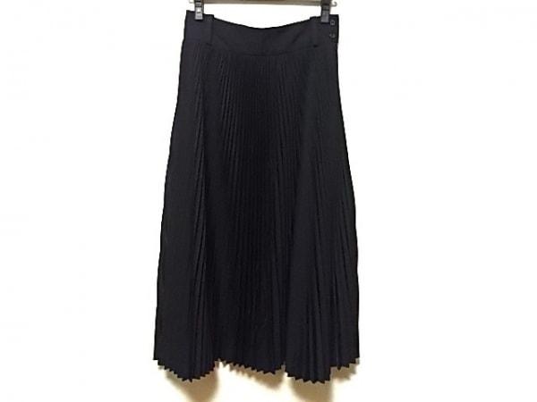 HYKE(ハイク) ロングスカート サイズ2 M レディース 黒 プリーツ