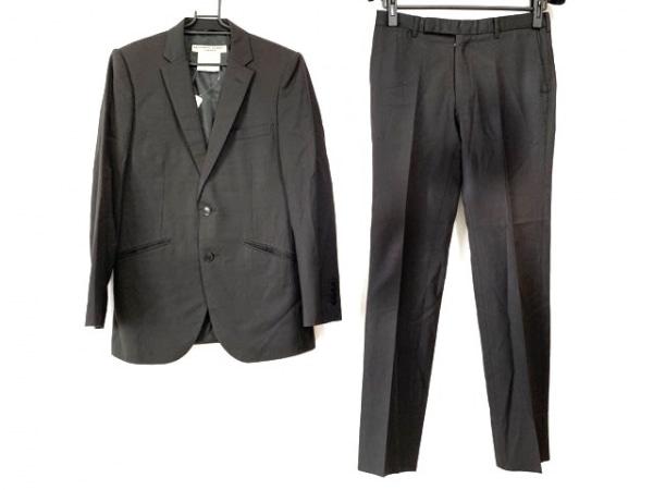 キャサリンハムネット シングルスーツ サイズM メンズ 黒 ストライプ