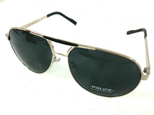 POLICE(ポリス) サングラス S8480G 黒×シルバー プラスチック×金属素材