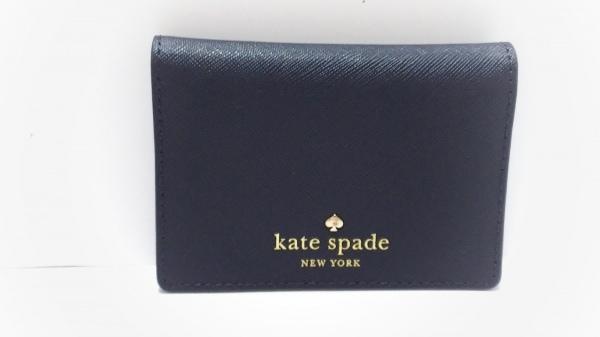 Kate spade(ケイトスペード) パスケース美品  PWRU4188 ダークネイビー レザー