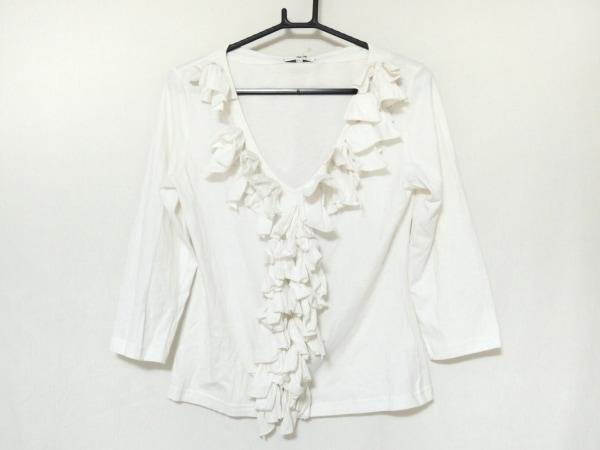 アンフォンティーヌ 七分袖カットソー サイズM レディース美品  白 リボン