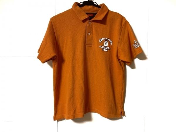 CAPTAIN SANTA(キャプテンサンタ) 半袖ポロシャツ サイズS メンズ オレンジ