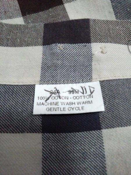 ファソナブル 長袖シャツ サイズM メンズ ベージュ×グレー×ダークブラウン