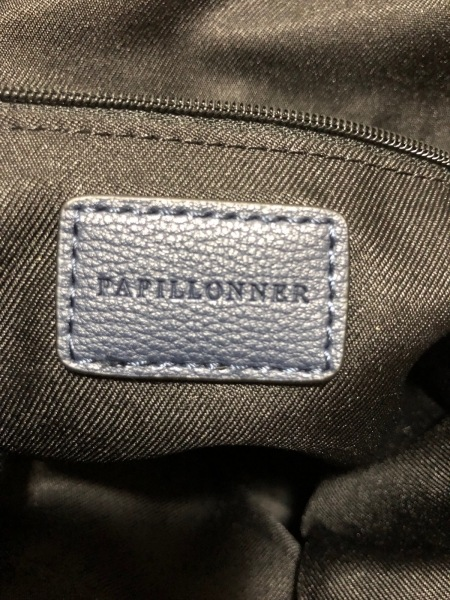 PAPILLONNER(パピヨネ) ショルダーバッグ ネイビー×黒 レザー