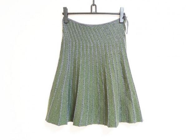 チヴィディーニ スカート サイズ42 M レディース ダークグレー×グリーン ニット