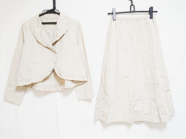 YUKIKO HANAI(ユキコハナイ) スカートスーツ サイズ8 M レディース ベージュ フリル