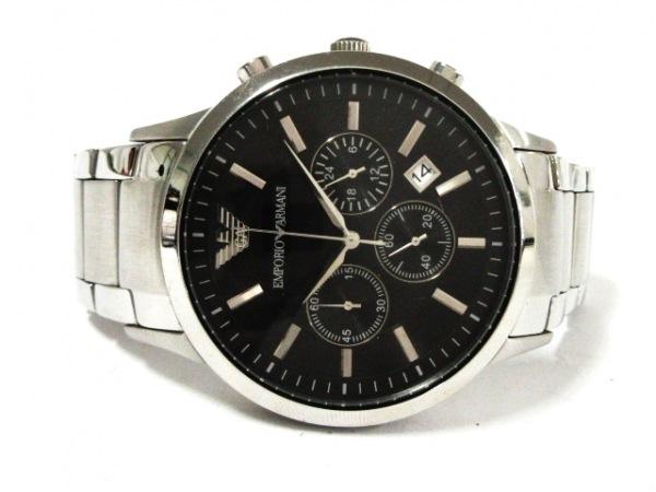 EMPORIOARMANI(アルマーニ) 腕時計美品  AR-2434 メンズ 黒 2