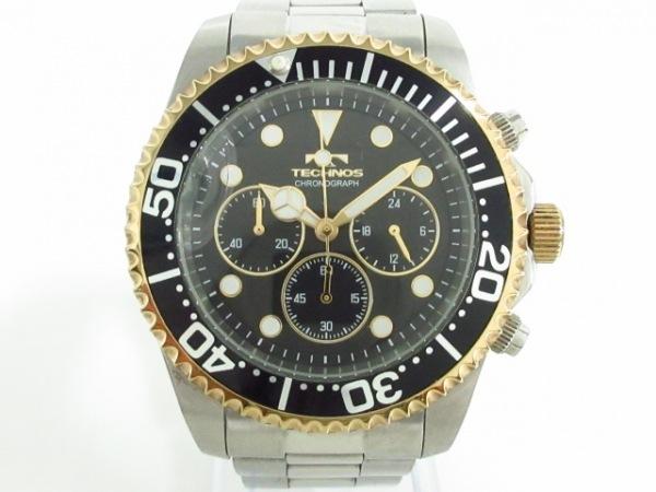 TECHNOS(テクノス) 腕時計 T6566 メンズ 黒