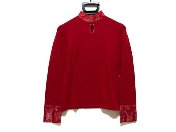 Shanghai Tang(シャンハイタン) 長袖セーター サイズM レディース レッド