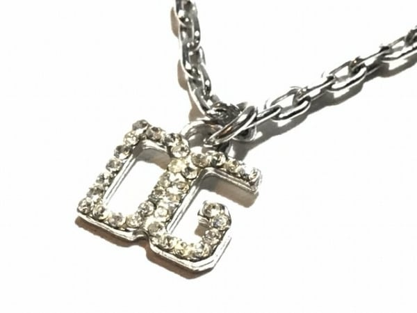 DOLCE&GABBANA(ドルチェアンドガッバーナ) ネックレス美品  金属素材×ラインストーン