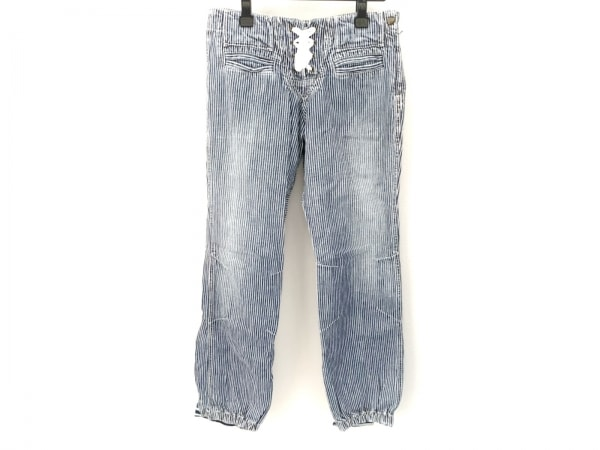 muchacha(ムチャチャ) パンツ サイズ1 S レディース ネイビー×白 ストライプ