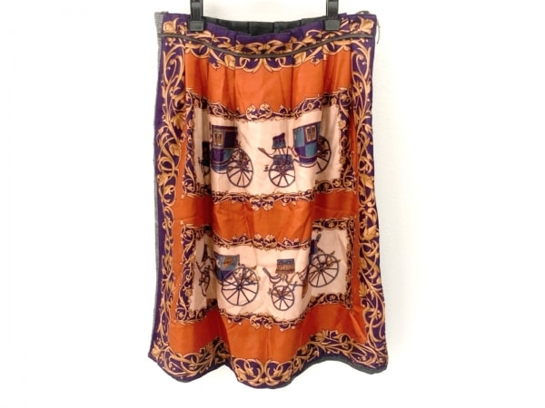 アリスサンディエゴ スカート サイズ40 M レディース美品  レッド×パープル×マルチ