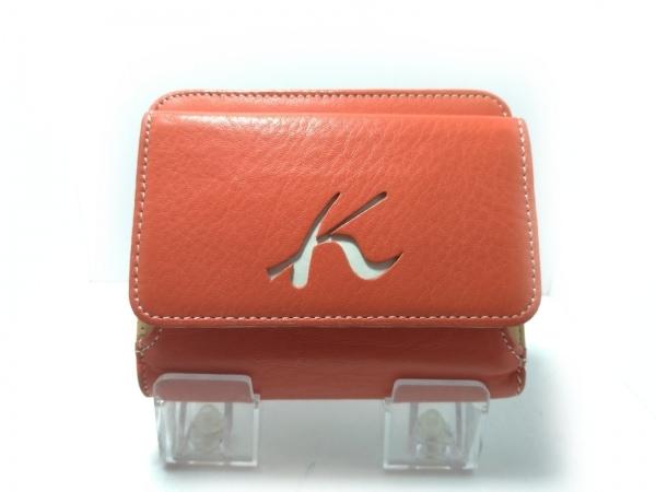 KITAMURA(キタムラ) 2つ折り財布 レッド×白 レザー