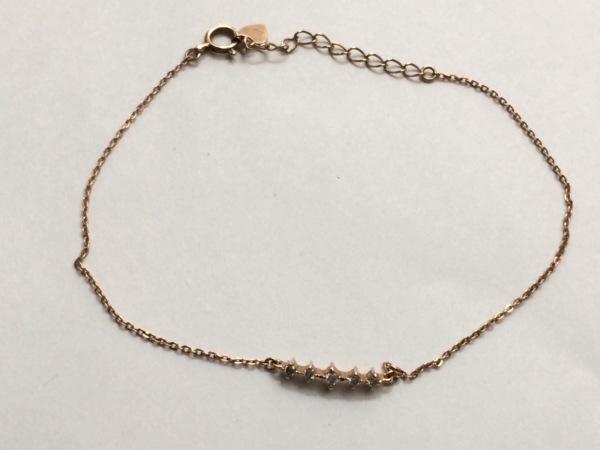 クミキョク ブレスレット美品  K10PG×ダイヤモンド 5Pダイヤ/0.06カラット