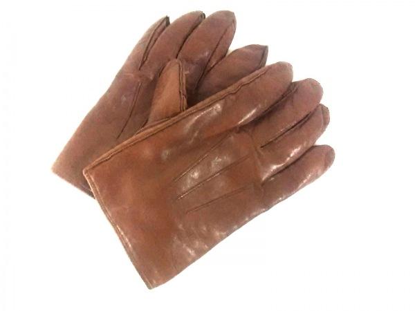 COACH(コーチ) 手袋 L レディース美品  ブラウン レザー