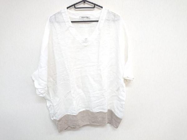 アルテポーヴェラ 半袖カットソー サイズM レディース美品  白×ベージュ