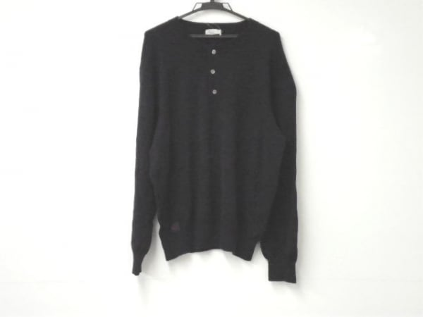 Papas(パパス) 長袖セーター サイズL L メンズ ダークネイビー