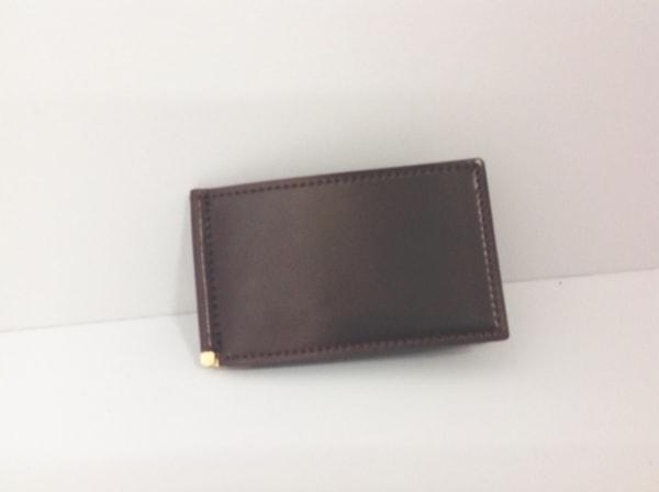 GANZO(ガンゾ) 財布 ダークブラウン コンパクトマネークリップ コードバン