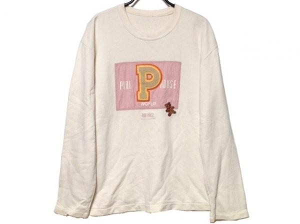 PINK HOUSE(ピンクハウス) トレーナー サイズL レディース 白×ピンク×マルチ