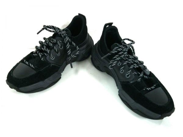 DIESEL(ディーゼル) スニーカー 25.5 メンズ 黒 スエード×化学繊維