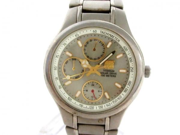 ELGIN(エルジン) 腕時計 FK-1203-C ボーイズ トリプルカレンダー グレー