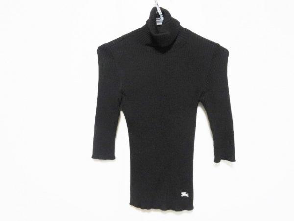 バーバリーブルーレーベル 長袖セーター サイズ38 M レディース 黒 タートルネック