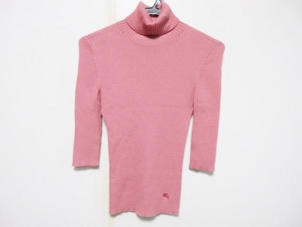 バーバリーブルーレーベル 長袖セーター サイズ38 M レディース ピンク