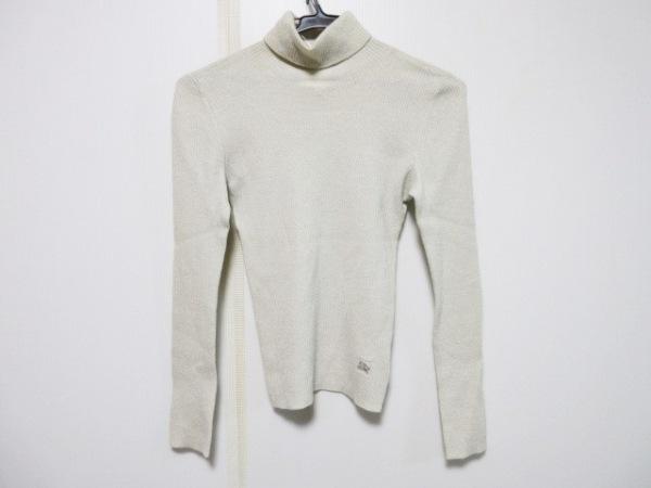 バーバリーブルーレーベル 長袖セーター サイズ38 M レディース アイボリー ラメ