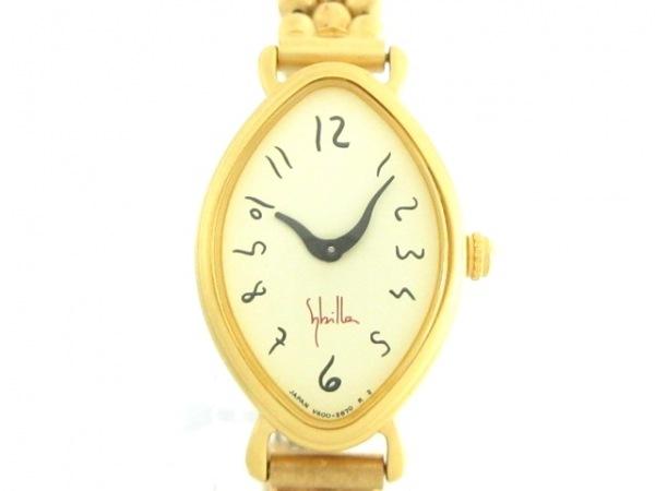 Sybilla(シビラ) 腕時計美品  V400-5970 レディース アイボリー