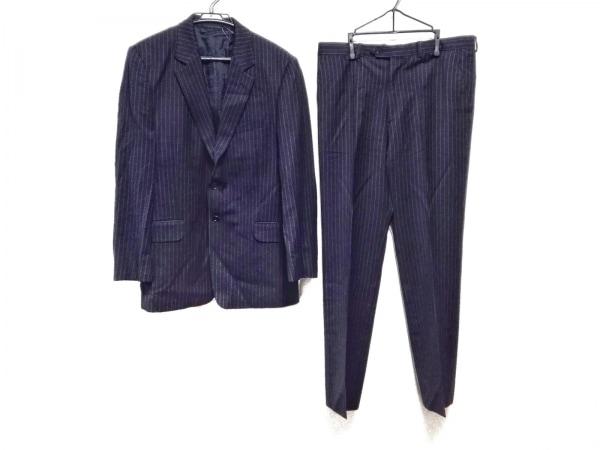 PaulSmith(ポールスミス) シングルスーツ メンズ 黒×ネイビー ストライプ