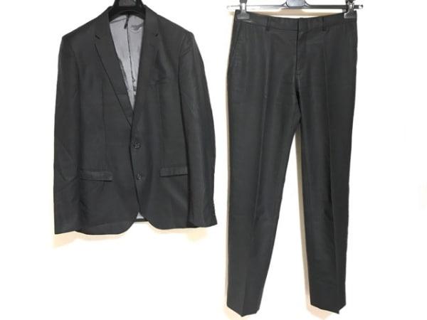 MALE&Co(メイルアンドコー) シングルスーツ サイズY7 メンズ 黒 ストライプ